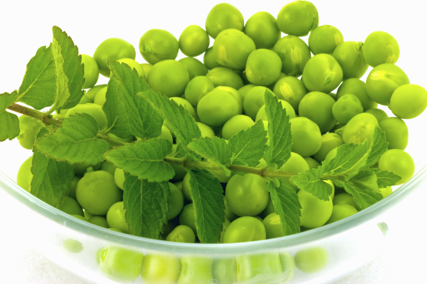 Peas with Orange and Mint