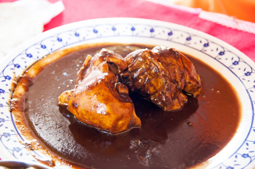 slow chicken mole