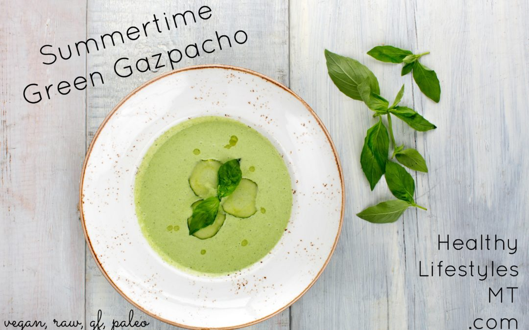 Summertime Green Gazpacho