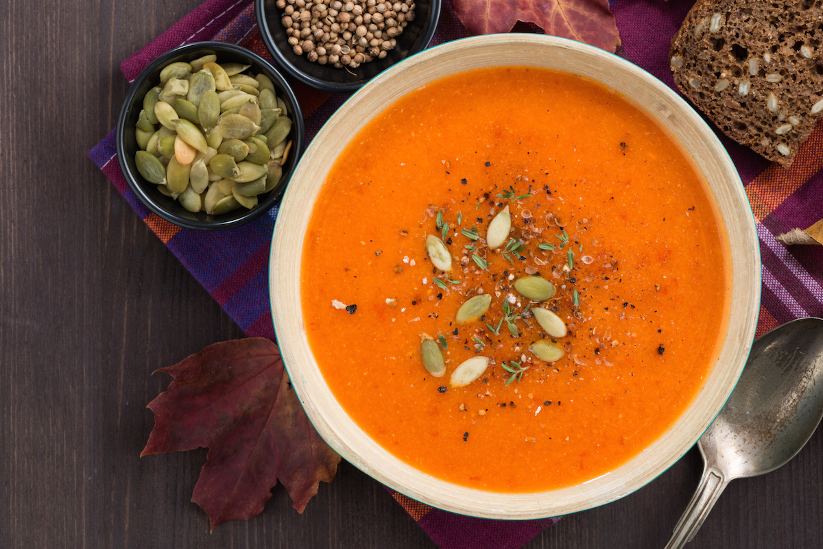 pumpkin bisque soup